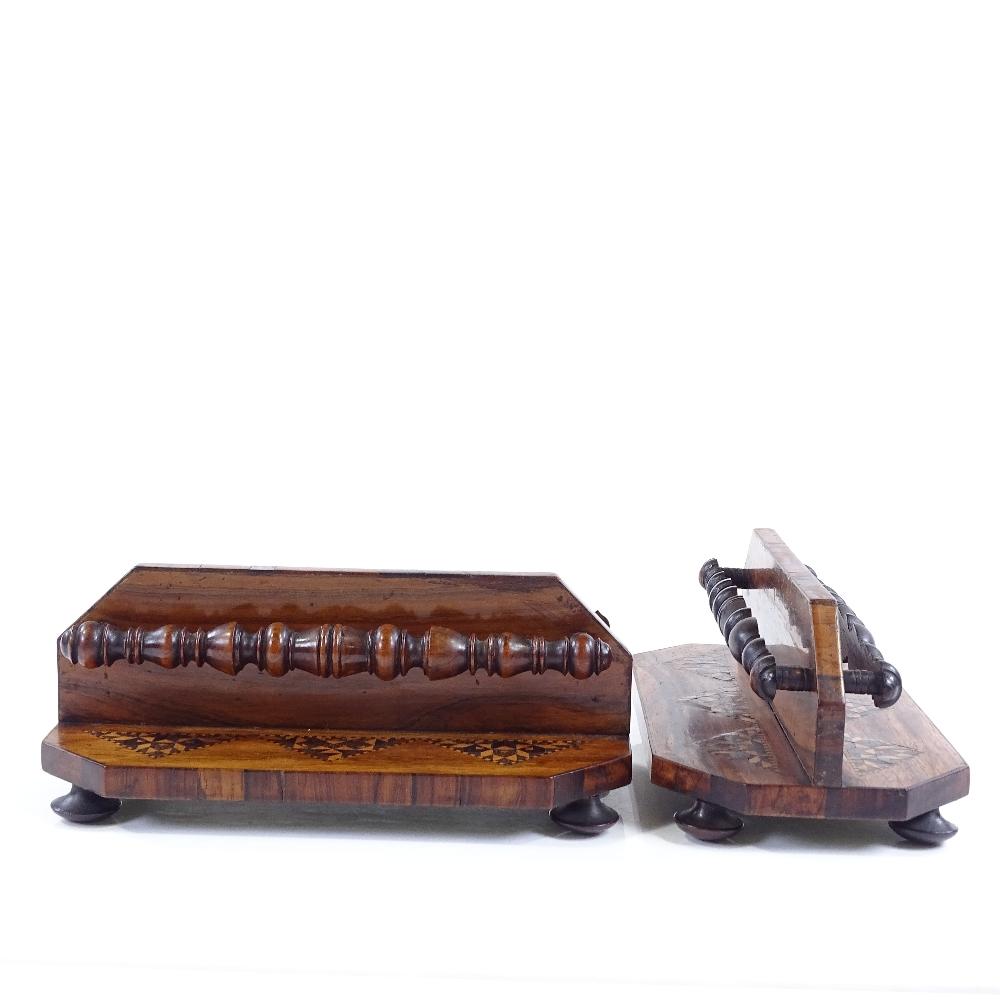 Lot 56 - A pair of Victorian Tunbridge Ware letter racks, length 19cm