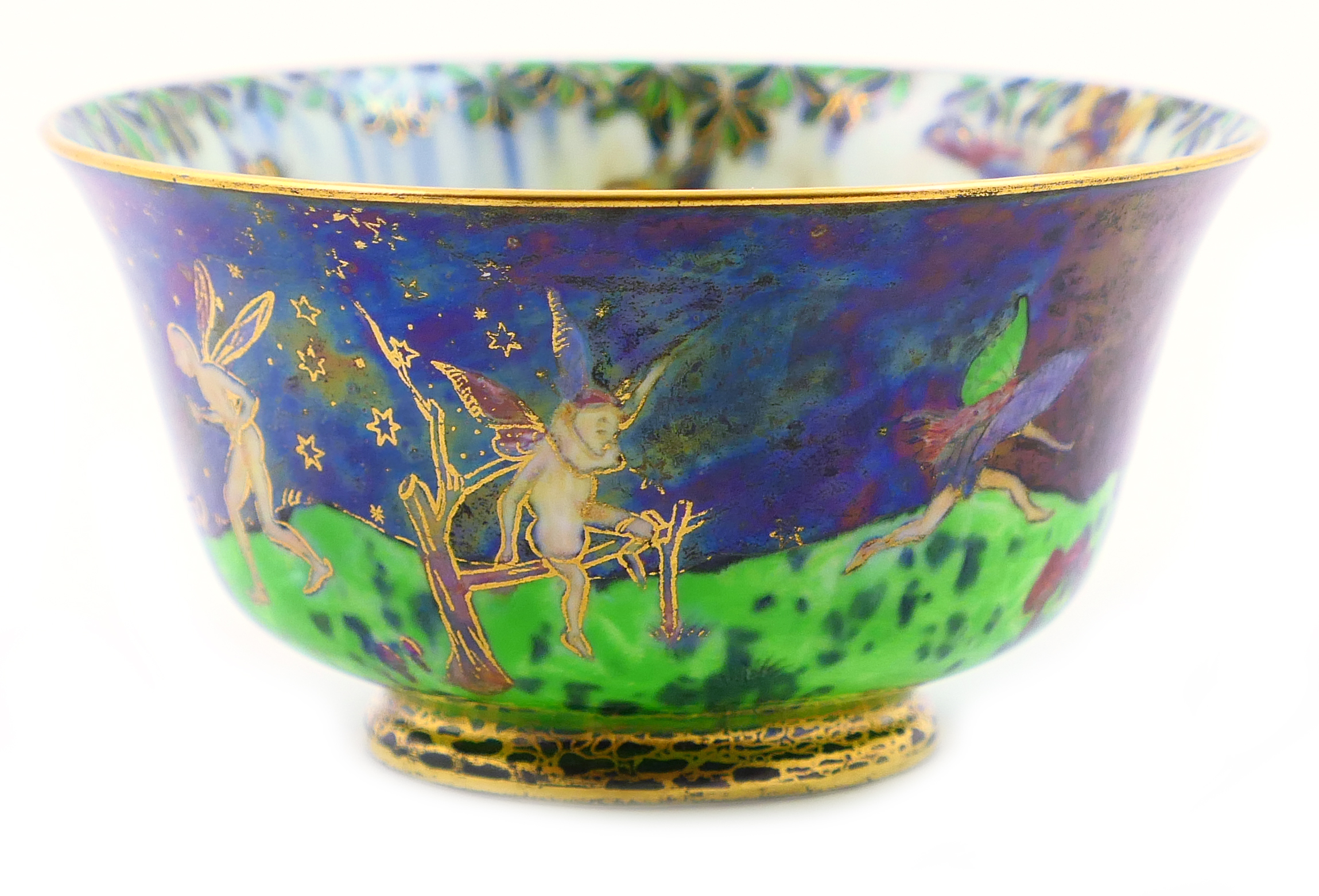 Lot 35 - Wedgwood Fairyland lustre York cup, designed by Daisy Makeig-Jones, decorated in the Leapfrogging