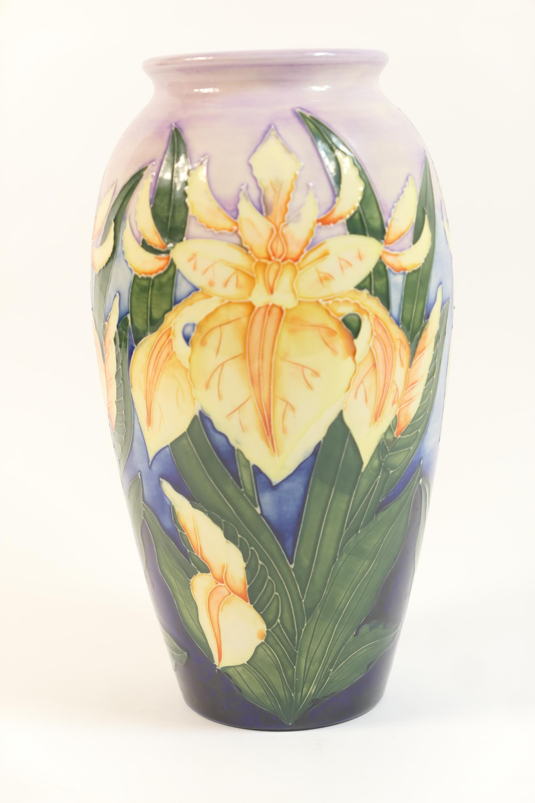 Lot 59 - Moorcroft Windrush pattern vase, circa 2000, ovoid form, impressed and painted marks, height 26cm