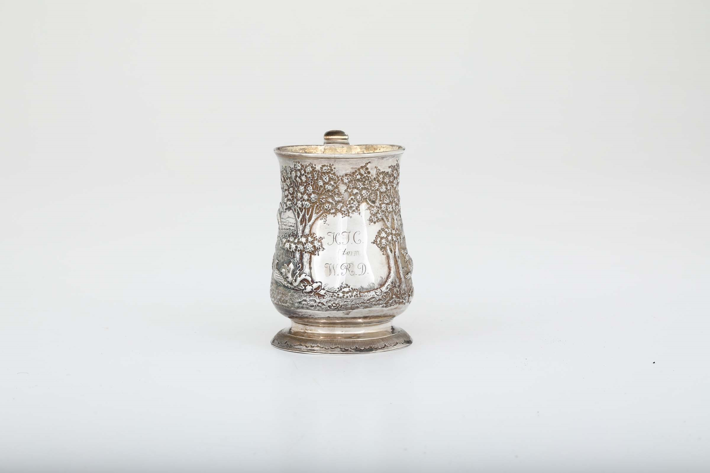 Lot 5 - A silver tankard, Newcastle, mid 1700s - Weight 290gr, H 13cm -