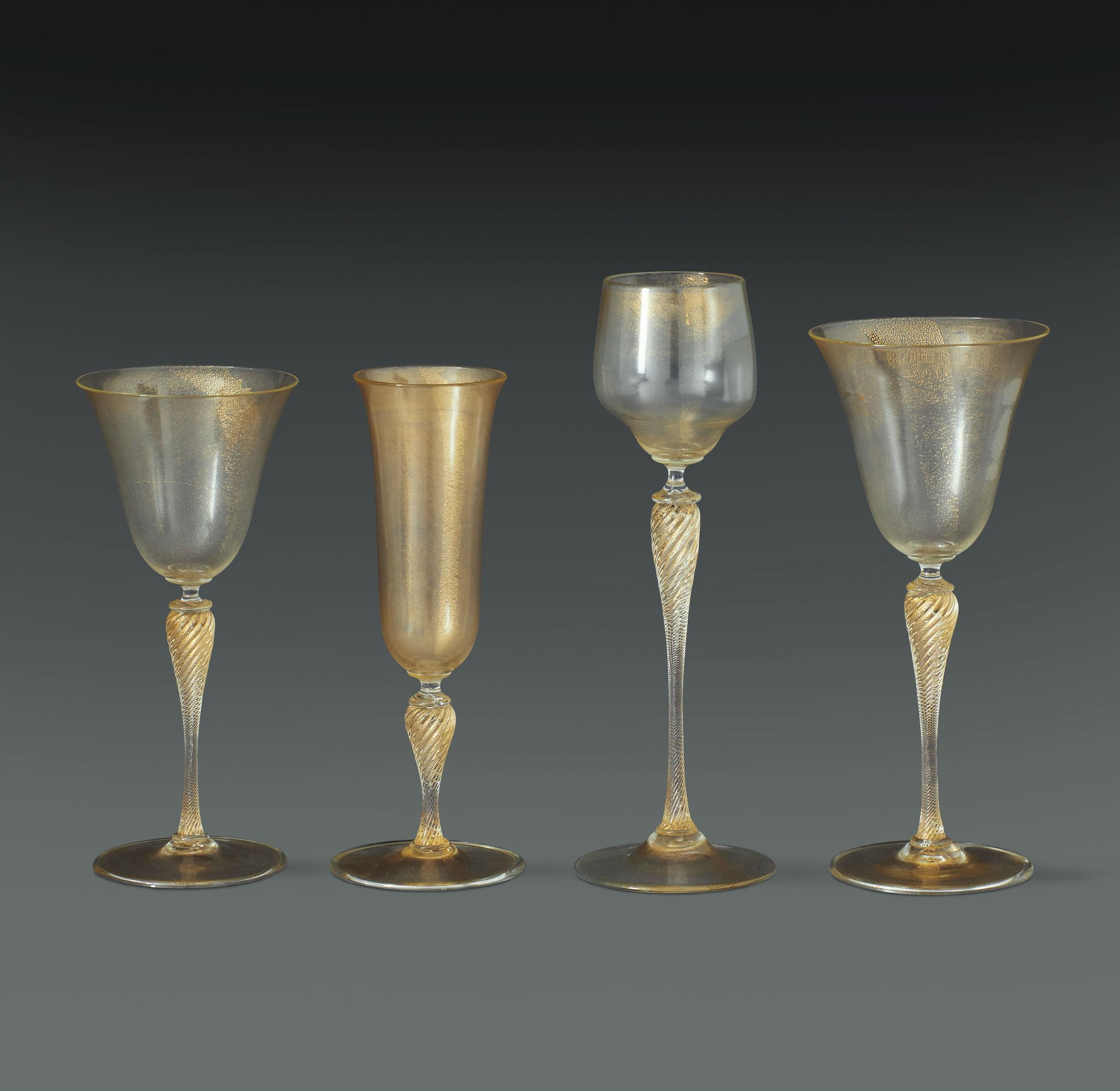 Lot 41 - Parte di servizio di bicchieri già proprietà di S.A.R. la Principessa Maria [...]