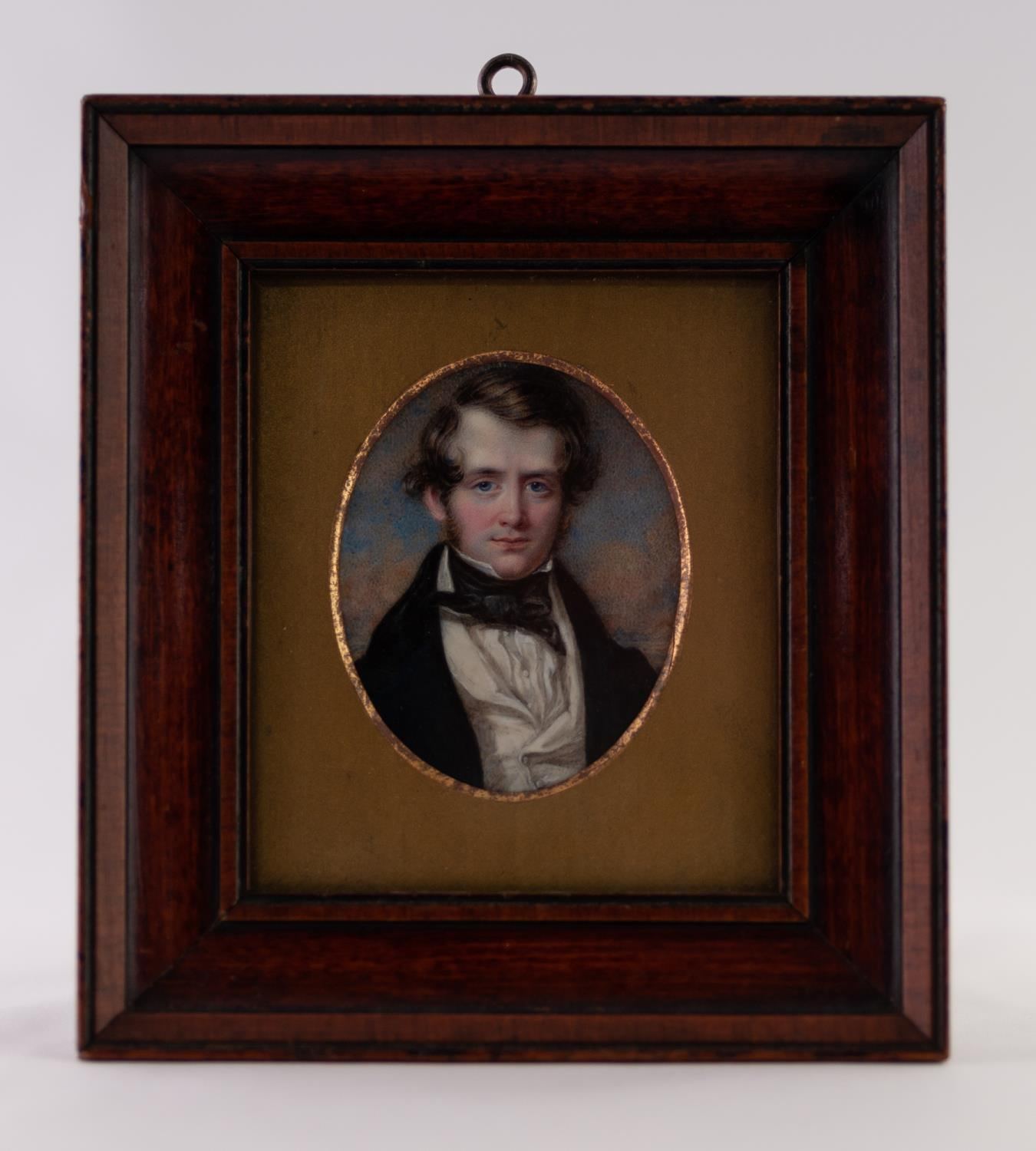 Lot 7 - T. WHEELER, A GOOD OVAL PORTRAIT MINIATURE ON IVORY OF A YOUNG GENTLEMAN, inscribed verso 'Painted