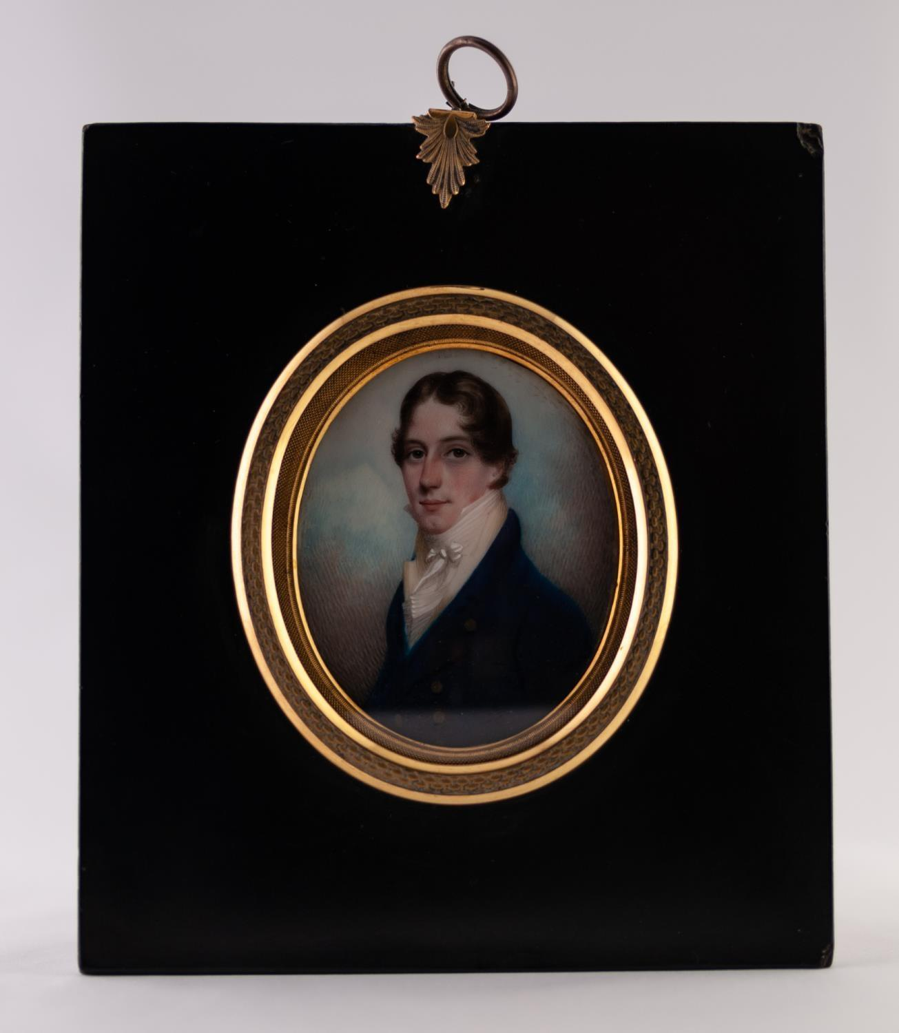 Lot 5 - ATTRIBUTED TO GEORGE ENGLEHEART (1750-1829), A GOOD OVAL PORTRAIT MINIATURE ON IVORY OF A YOUNG