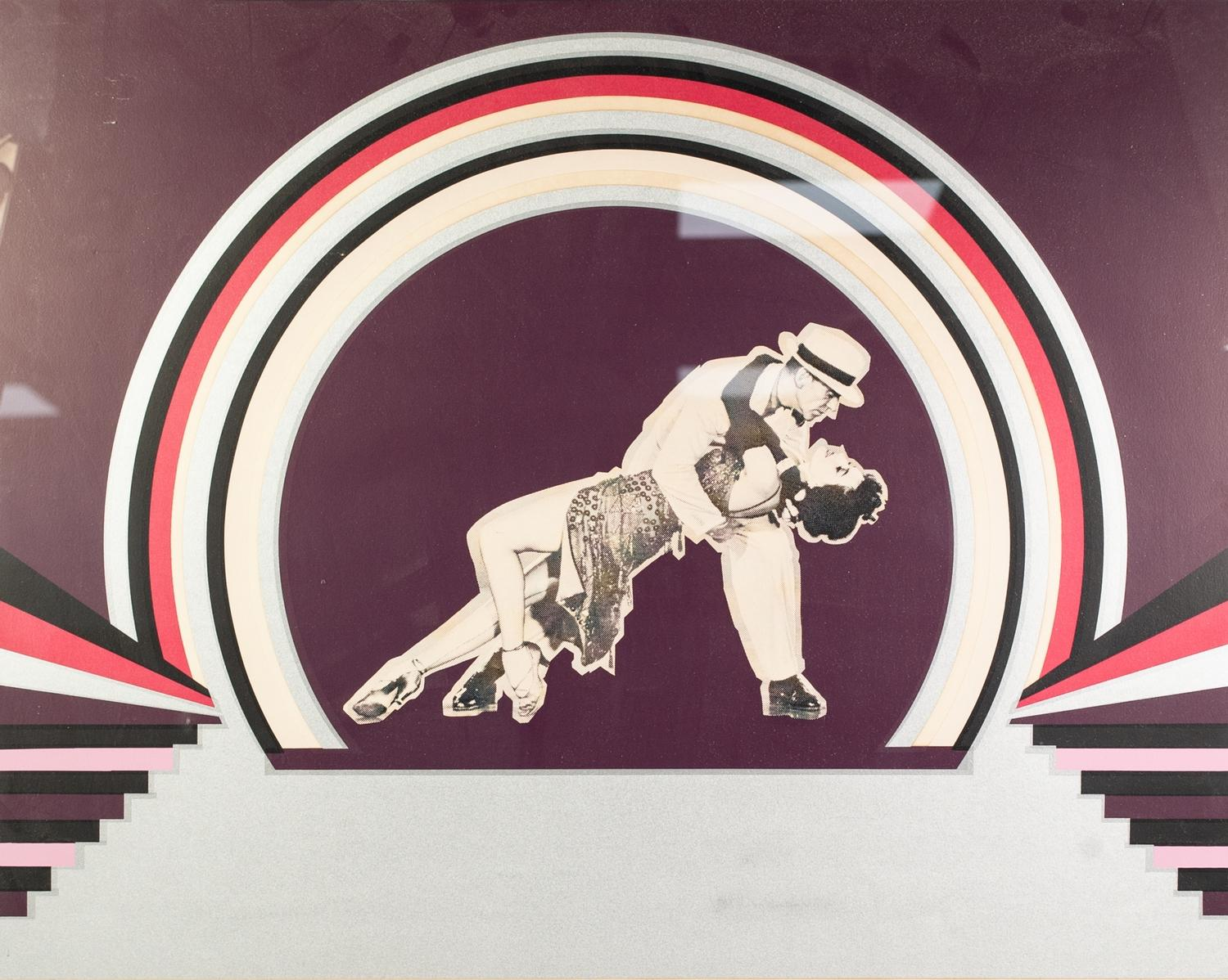 Lot 329 - ELLEN KUHN SILK SCREEN PRINT, ARTIST SIGNED WORKING PROOF 'Fred Astaire & Cyd Charisse' Signed,