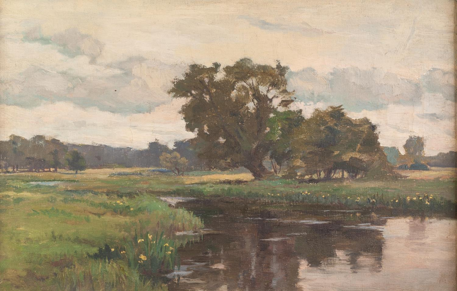 Lot 256 - ATTRIBUTED TO LIONEL BIRCH (1858-1930) OIL PAINTING ON CANVAS ?Ottery St. Mary, Devon? Unsigned,
