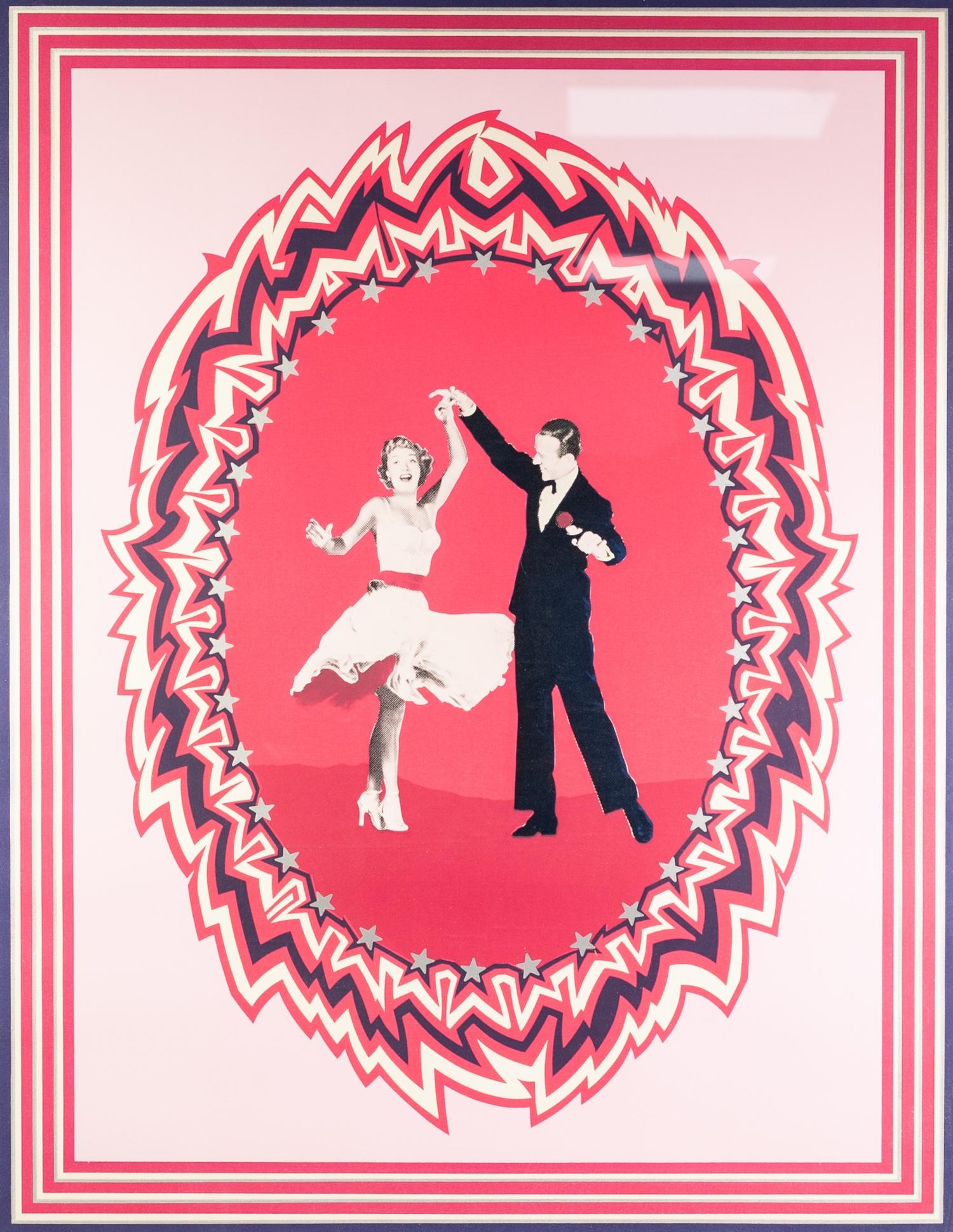 Lot 330 - ELLEN KUHN SILK SCREEN PRINT, ARTIST SIGNED LIMITED EDITION 'Fred Astaire & Jane Powell' Signed,