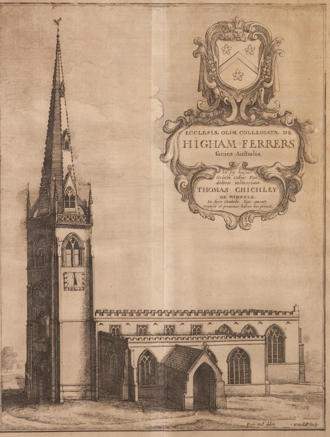 Lot 331 - AFTER W. HOLLAR FOUR ECCLESIASTICAL ENGRAVINGS Including, Litchfield Cathedral, Higham Ferrers,