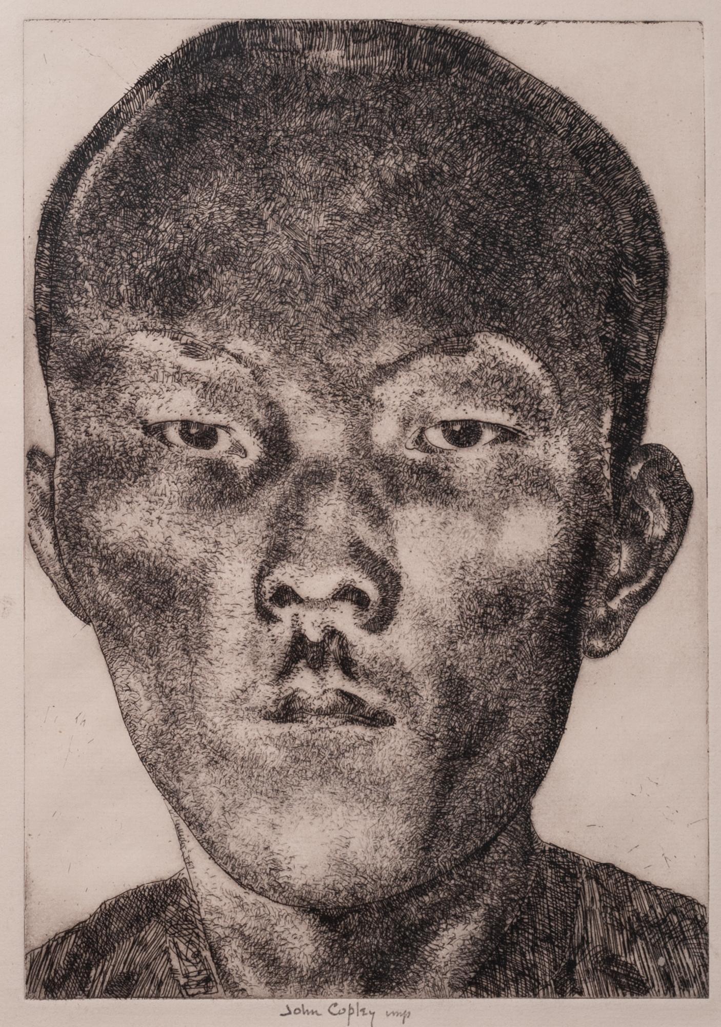 Lot 325 - JOHN COPLEY (1875-1950) ARTIST SIGNED ETCHING Oriental head study 10? x 7? (25.4cm x 17.8cm)