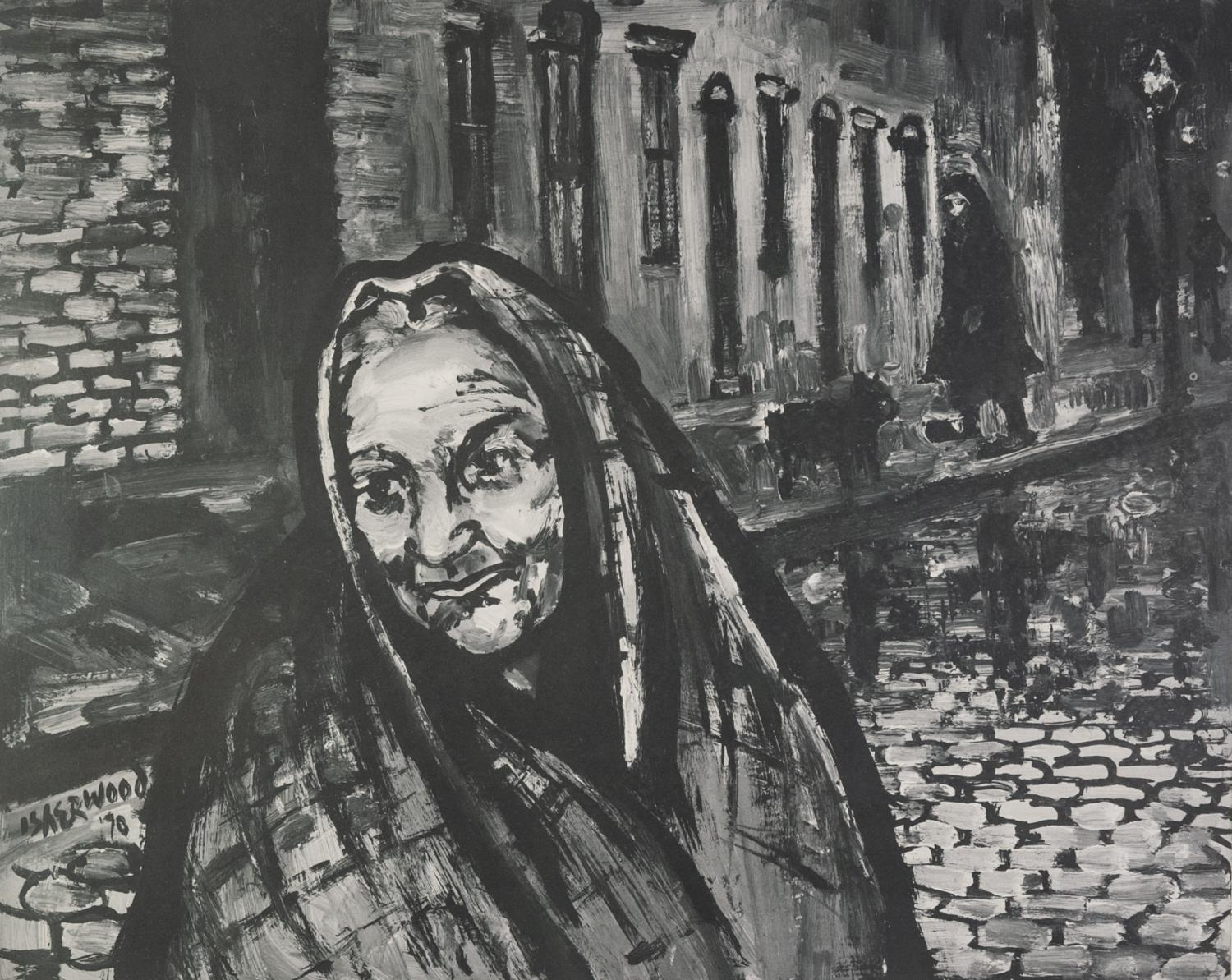 Lot 71 - LAWRENCE ISHERWOOD (1917 - 1988) ARTIST SIGNED LIMITED EDITION BLACK AND WHITE PRINT ?Gracie