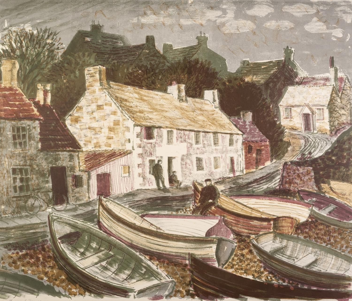 Lot 76 - NORMAN C JAQUES (1926-2014) ARTIST SIGNED LIMITED EDITION COLOUR LITHOGRAPH ?Moelfre, Anglesey?, (