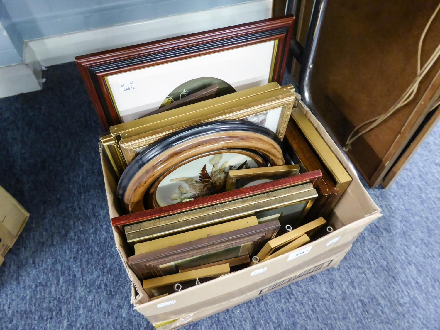 Lot 296 - VARIOUS MODERN SMALL COLOUR PRINTS, HUNTING, BIRDS, ETC ALL FRAMED AND GLAZED, CONTENTS OF ONE BOX