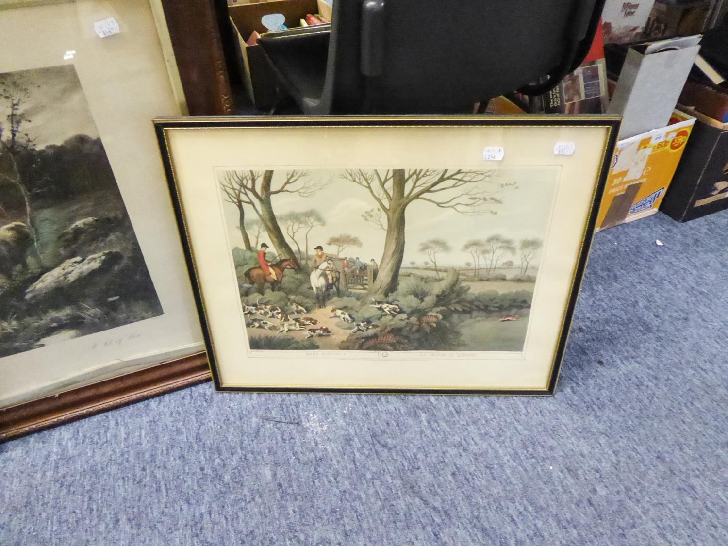 Lot 294 - AFTER HOWITT PAIR OF COLOUR HUNTING PRINTS FROM ENGRAVINGS 12? X 17 ¼? AFTER DOUGLAS GRAHAM BLACK