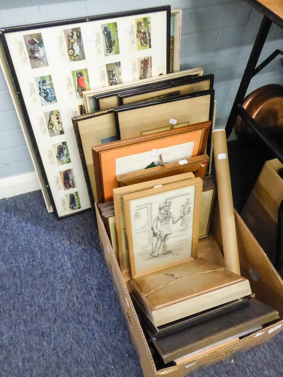 Lot 406 - QUANTITY OF PICTURES AND PRINTS, VARIOUS SUBJECTS AND SIZES
