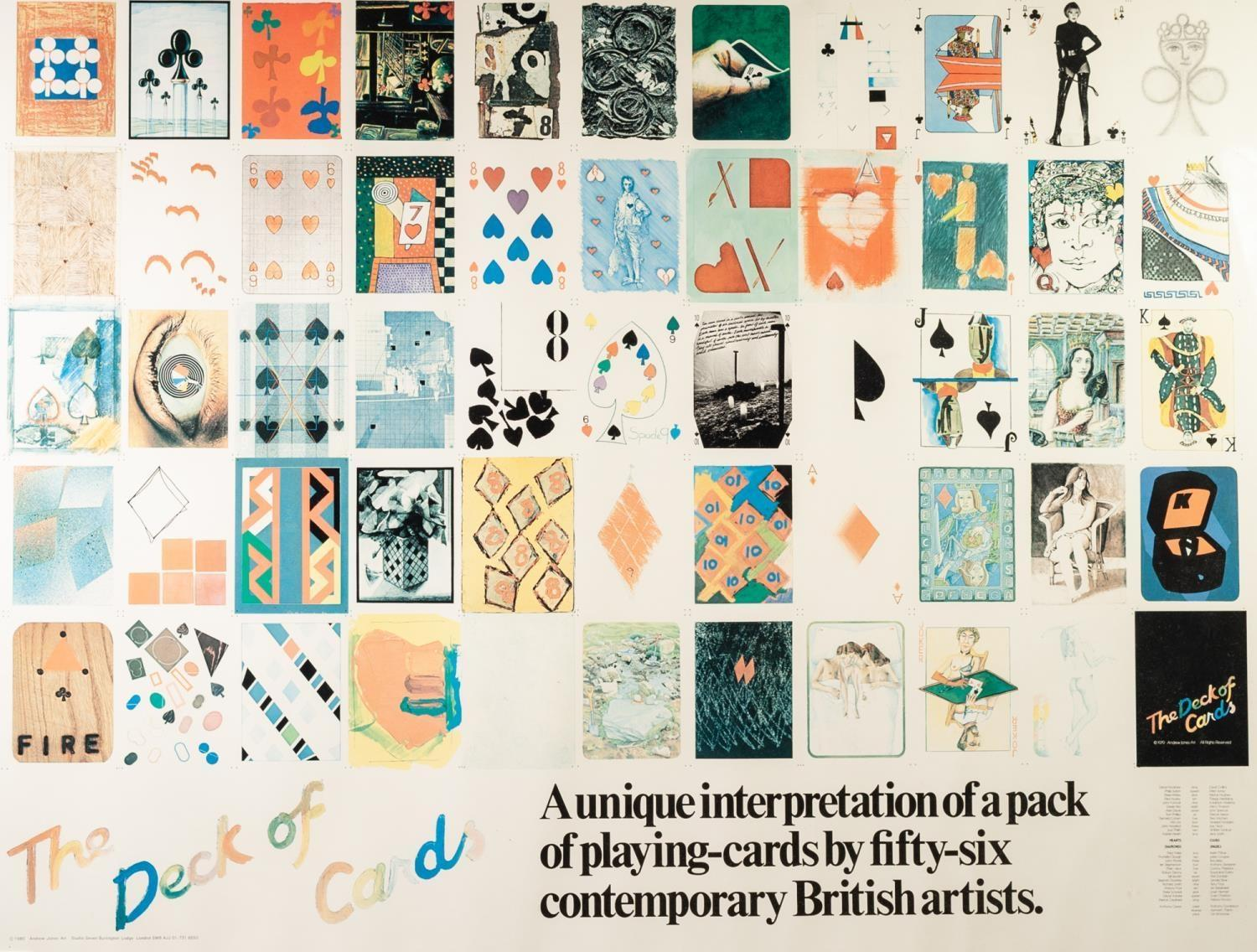 Lot 157 - ANDREW JONES ART, ?THE DECK OF CARDS? COLOUR PRINT ?A unique interpretation of a pack of playing-