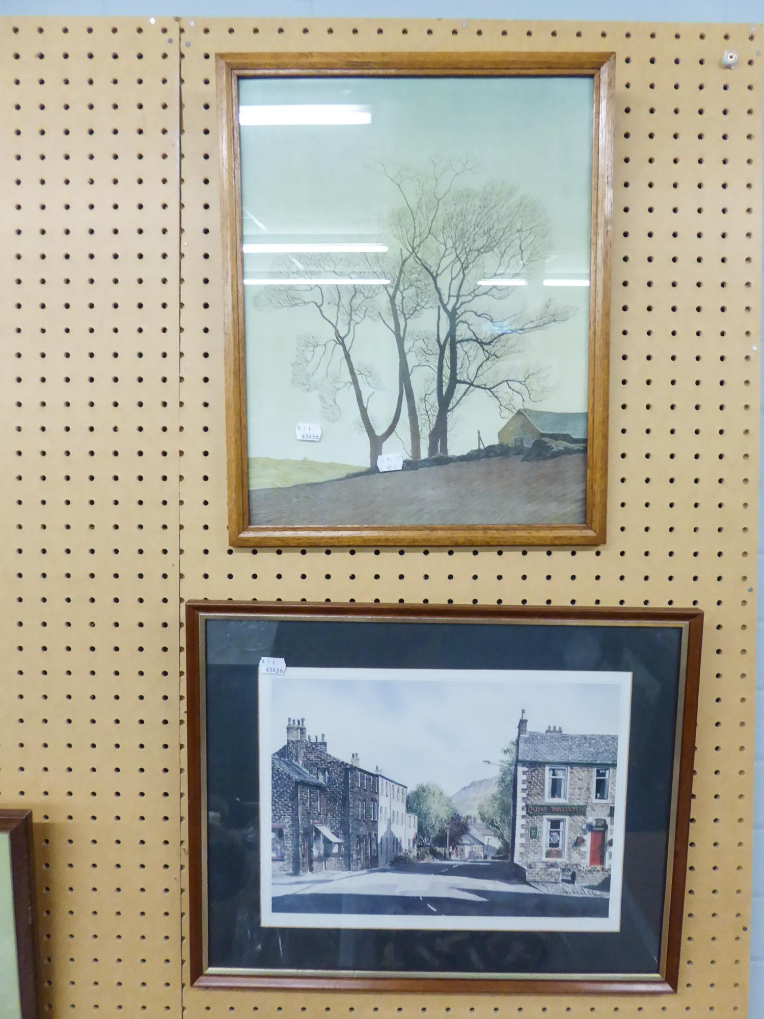 Lot 443 - TWO COLOURED PRINTS, FRAMED AND GLAZED, 'KING WILLIAM', 'J HOBSON' AND AN OTHER (2)