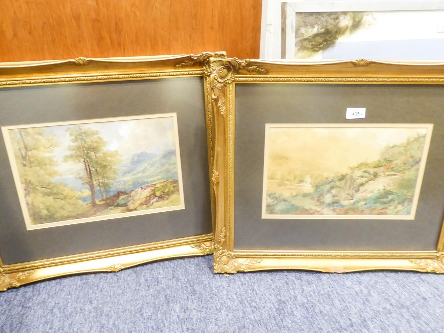 Lot 371 - HENRY JAMES HOLDING 1833-1872 PAIR OF WATERCOLOUR DRAWINGS LANDSCAPES SIGNED AND DATED 1861 8 1/4