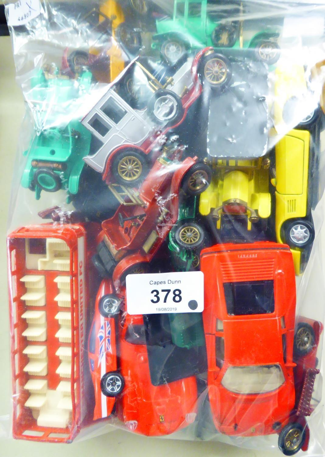 Lot 378 - A SELECTION OF UNBOXED MATCHBOX MODELS OF YESTERYEAR AND OTHER DIE-CASTS