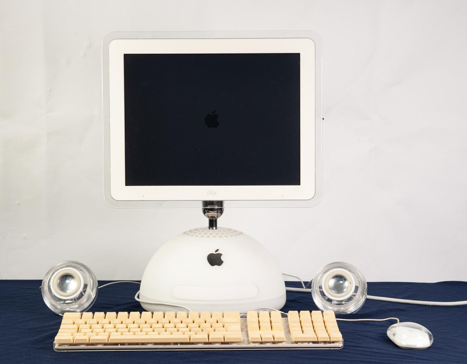 Lot 52 - iMAC G4, VERSION 10.5.8, 15 INCH LCD DISPLAY WITH EASY HEIGHT, TILT AND SWIVEL ADJUSTMENT, APPLE
