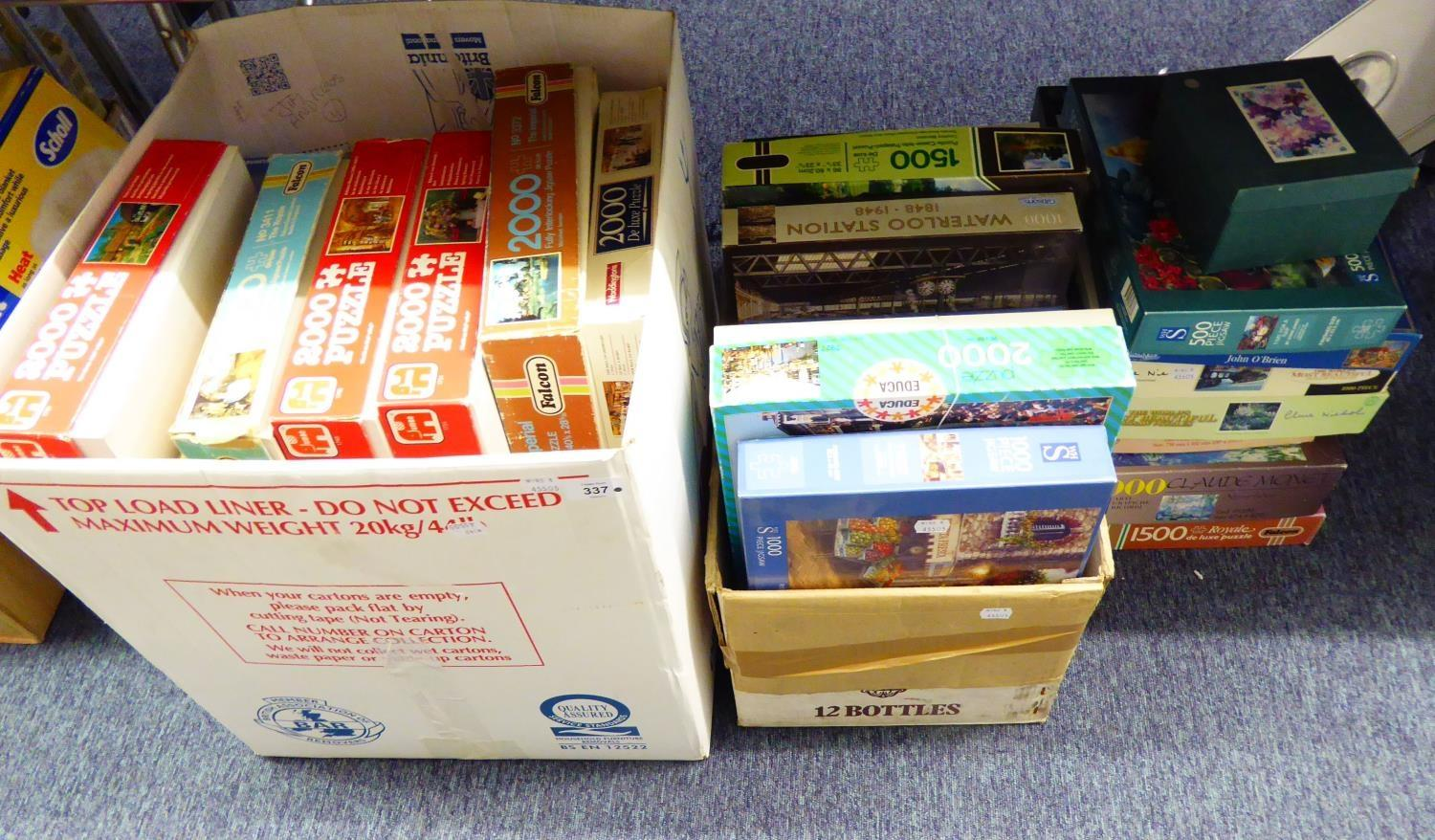 Lot 337 - LARGE QUANTITY OF JIGSAW PUZZLES