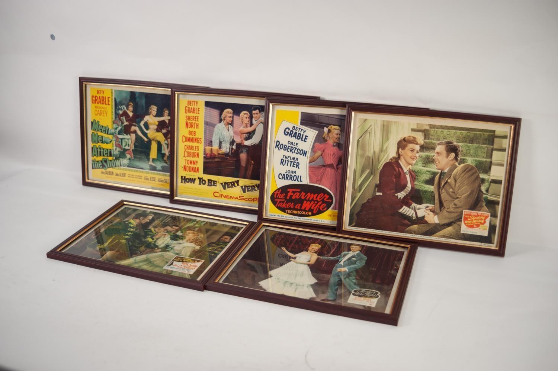 Lot 244 - TWENTY FRAMED LOBBY STILLS of Betty Grable films (20)