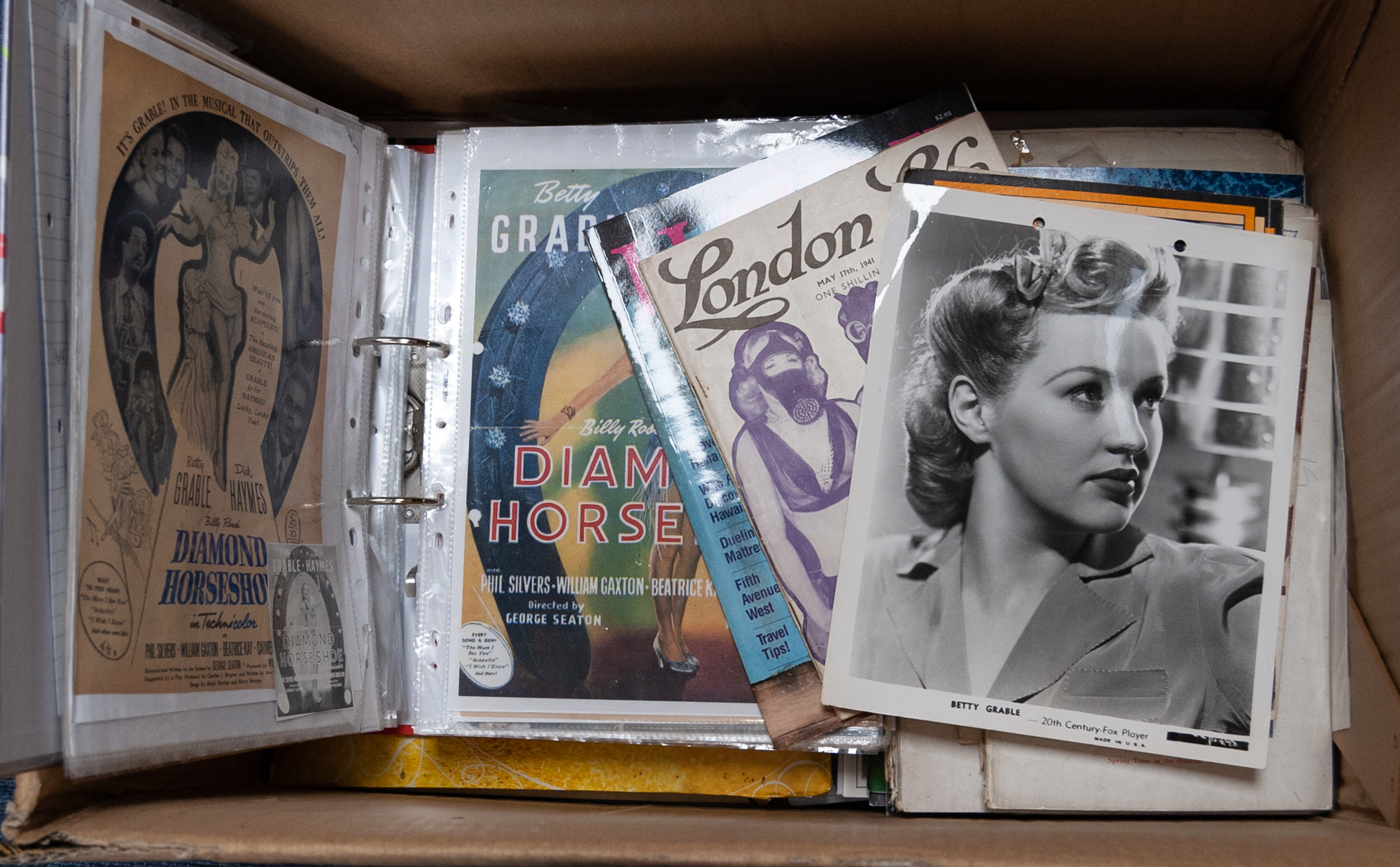 Lot 293 - COLLECTION OF MOVIE RELATED MAGAZINES AND SCRAPS FROM THE 1940?s AND LATER, contents of one large
