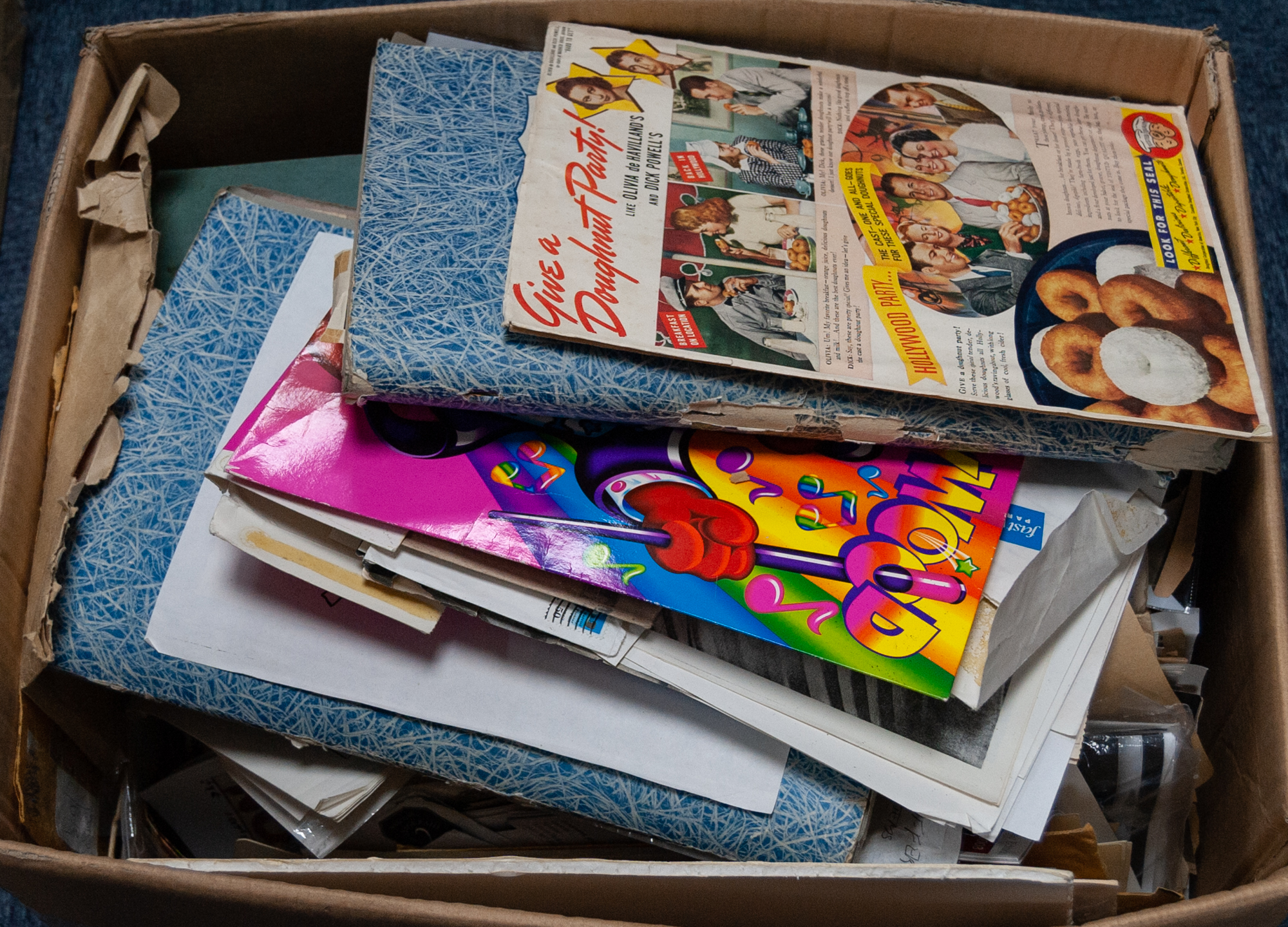 Lot 292 - LARGE COLLECTION OF BETTY GRABLE SCRAPS AND PRESS CUTTINGS, all loose, contents of one large box