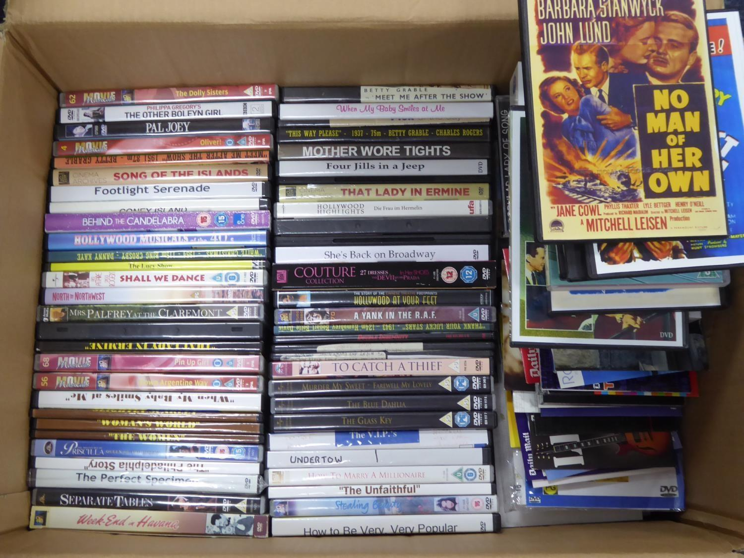 Lot 250 - OVER 200 DVDs AND CDs, MAINLY CLASSIC FILMS including Betty Grable films (circa 50% of DVDs are