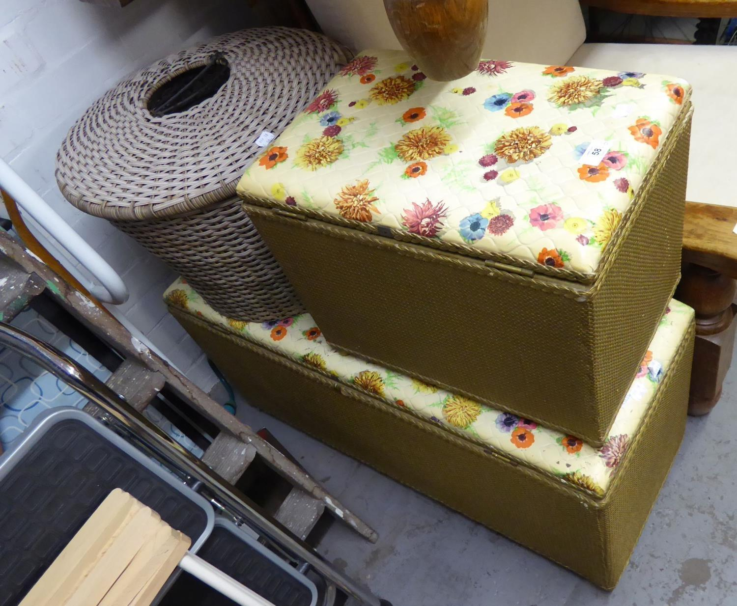 Lot 58 - LOOM BEDDING CHEST AND LAUNDRY BASKET