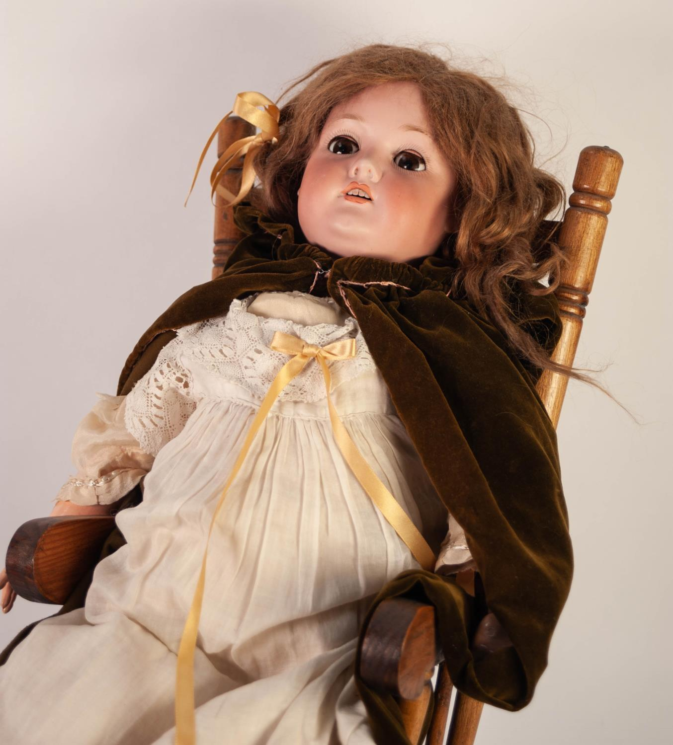 Lot 507 - EARLY 1900s WALTERHAUSEN, GERMANY, BISQUE HEAD DOLL, NUMBERED 1916, 10a with sleeping brown eyes and