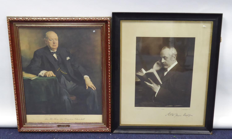 Lot 64 - H. WALTER BARNETT, 12 KNIGHTSBRIDGE S.W. (photographer), portrait of A. M. James Balfour (author),