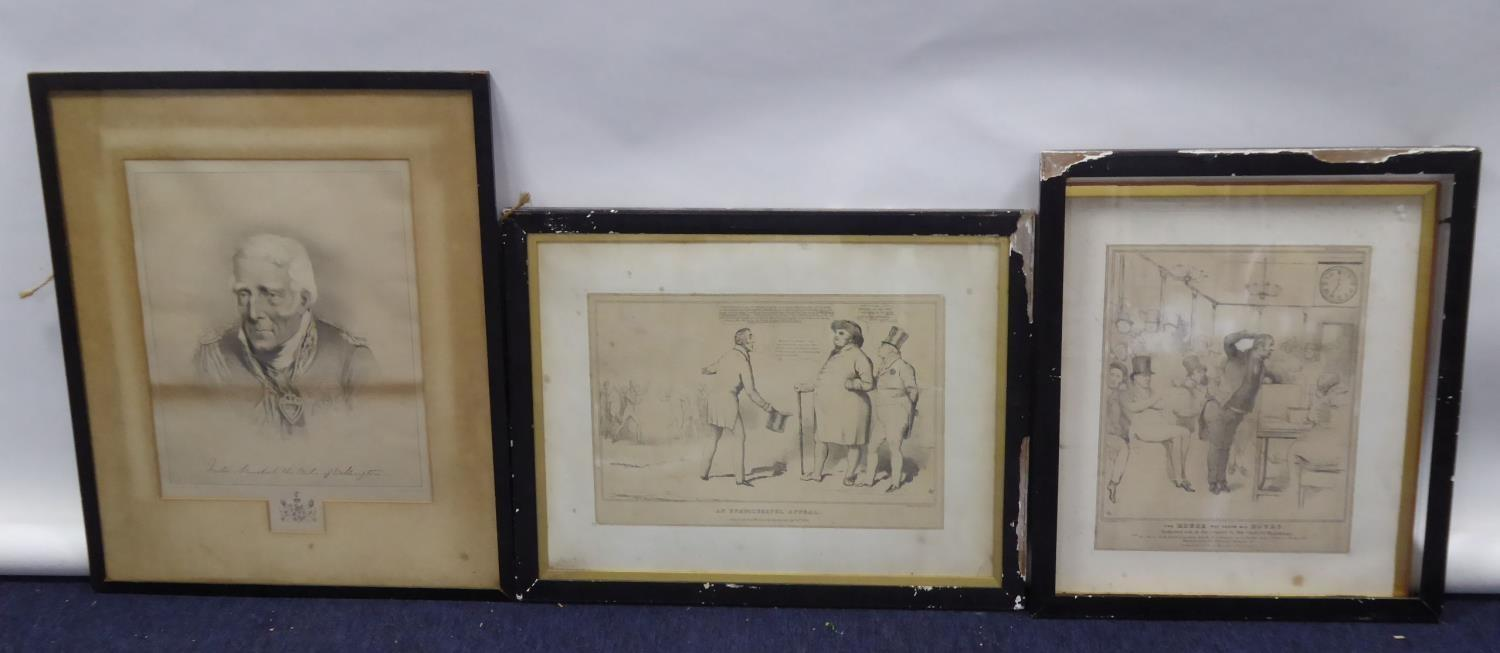 """Lot 66 - LITHOGRAPH, LAID DOWN ON WOVE PAPER 'An Unsuccessful Appeal', published 1830, 10 1/2"""" x 15 1/2"""" ("""