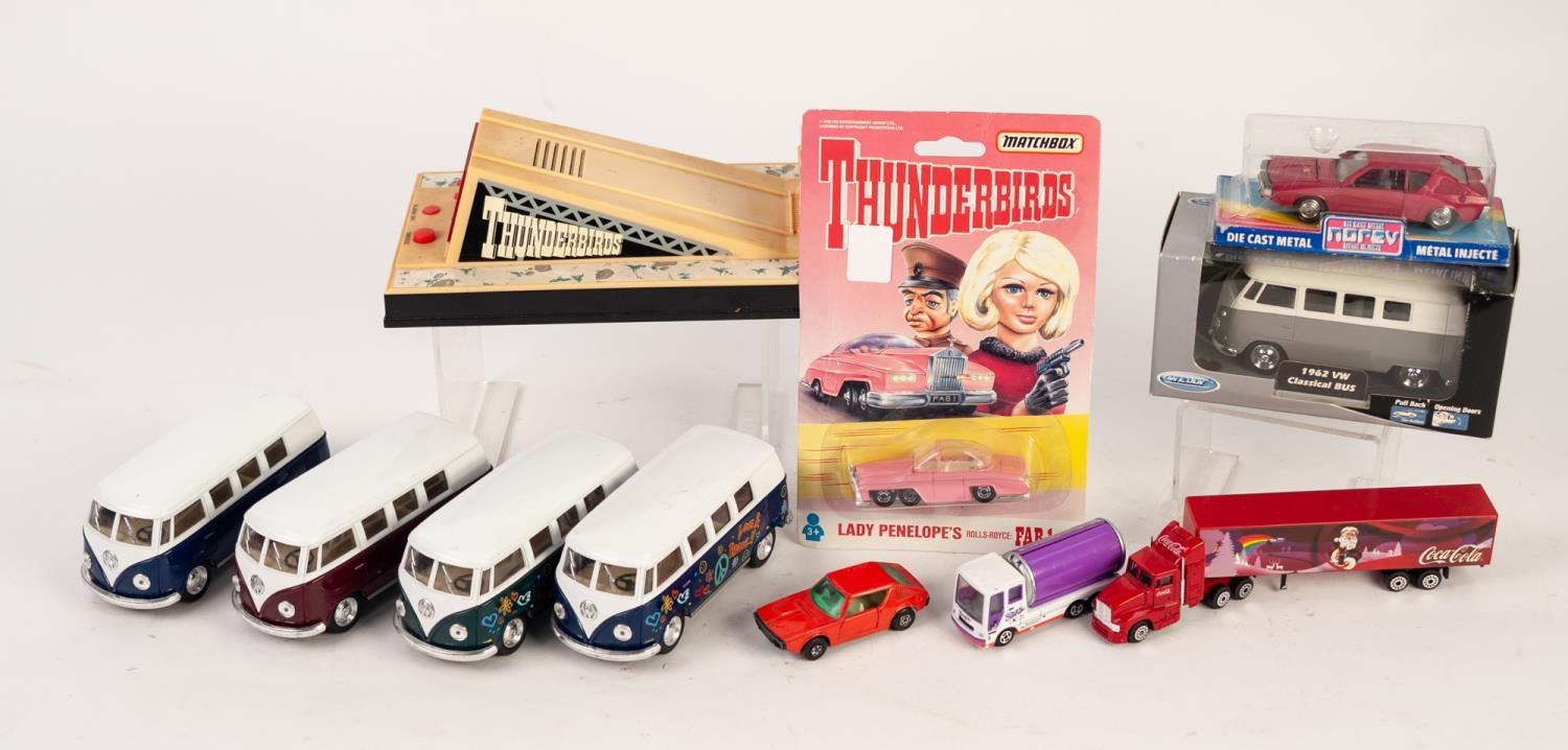 Lot 500 - SUNDRY BOXED AND UNBOXED DIE CAST TOYS, VARIOUS MAKERS includes Matchbox blister packed Lady