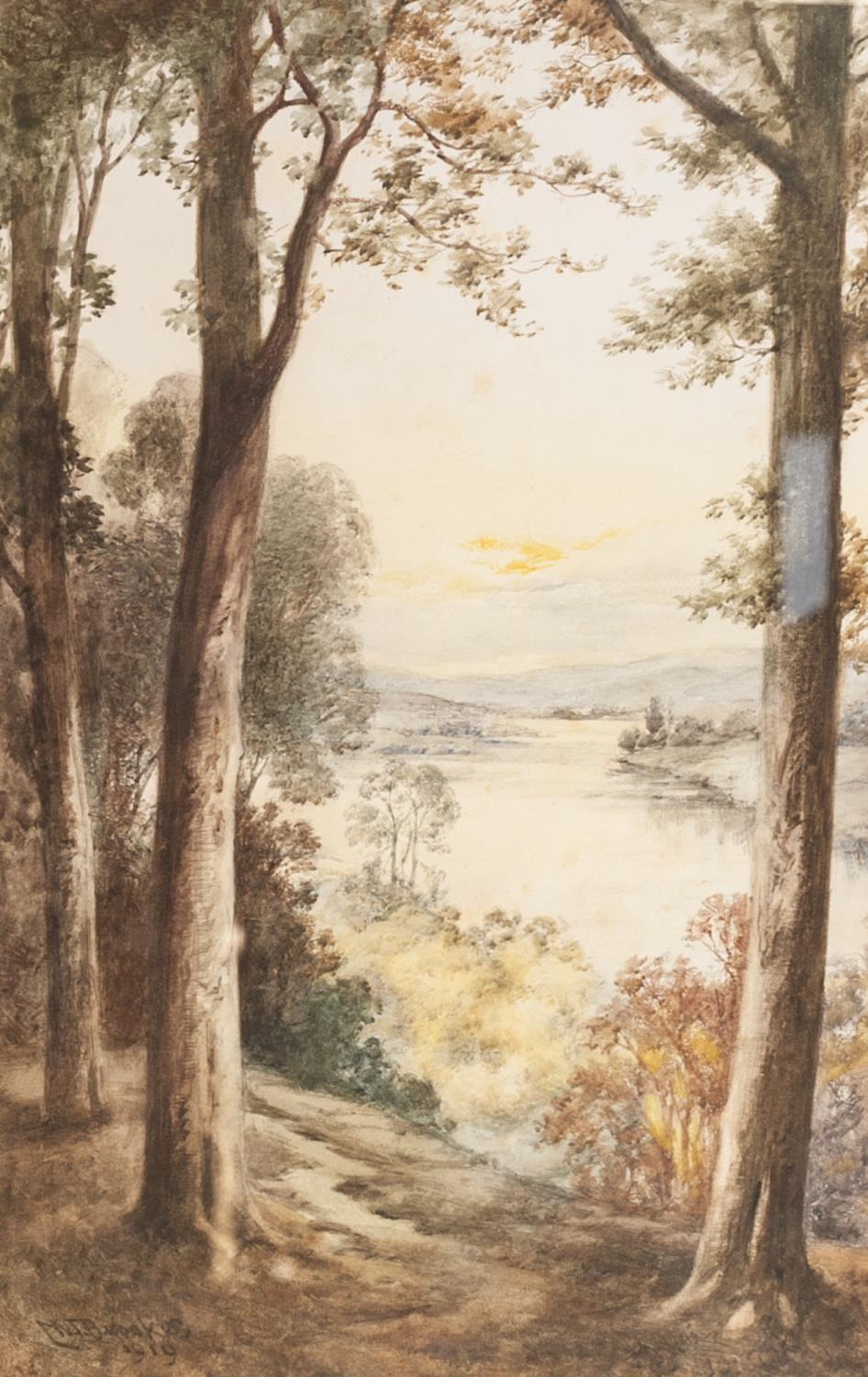 """Lot 191 - W T BROOKS SIX WATERCOLOUR DRAWINGS Scottish Lochs Signed and dated 1910-1920 15 3/4"""" x 10"""" (40 x"""