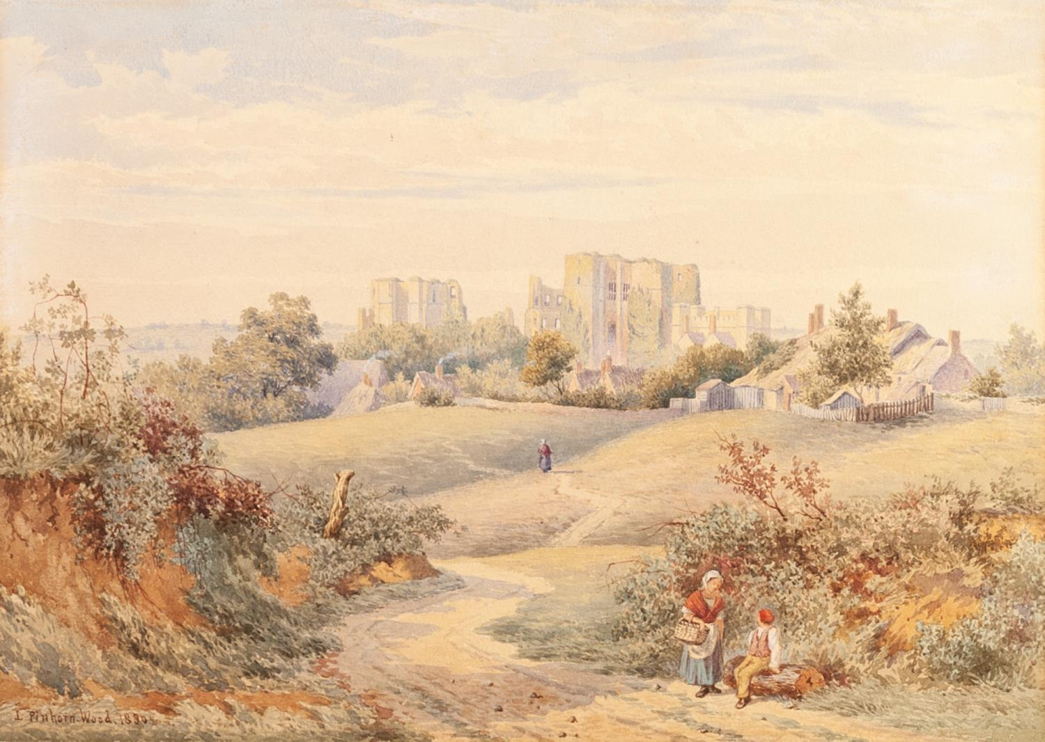 Lot 186 - LEWIS PINHORN WOOD (act. 1870-1931) PAIR OF WATERCOLOUR DRAWINGS Windsor Castle Landscape with