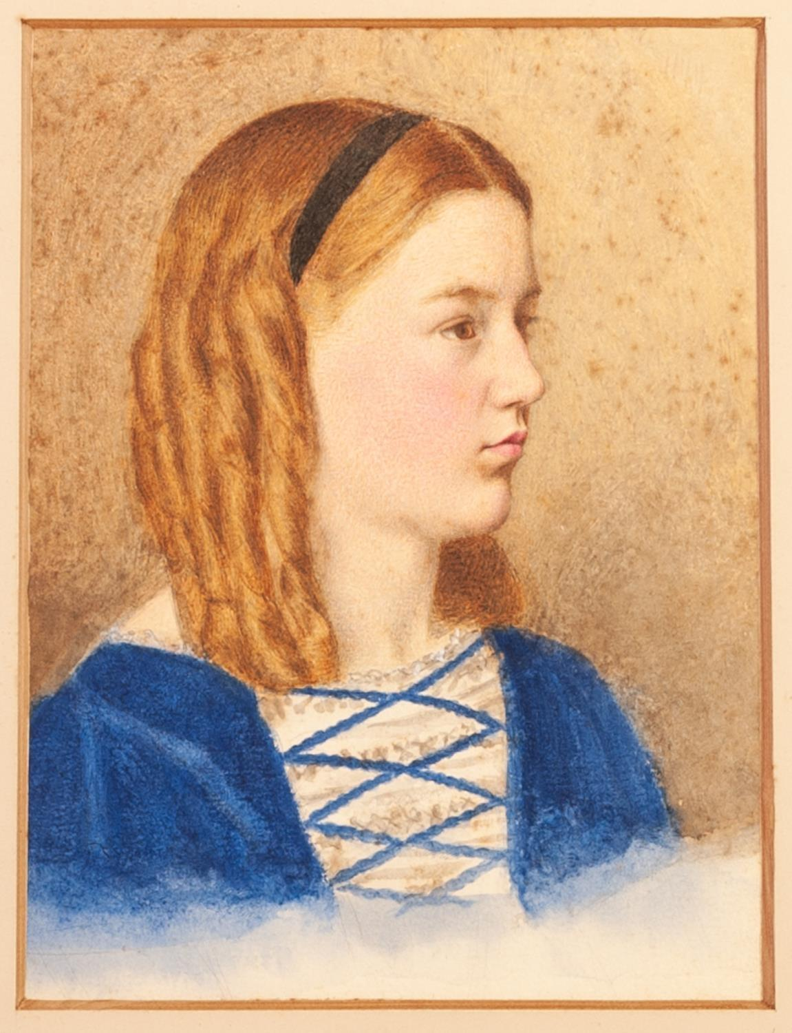 Lot 189 - UNATTRIBUTED (EARLY TWENTIETH CENTURY) PAIR OF WATERCOLOUR DRAWINGS Female bust portraits, one