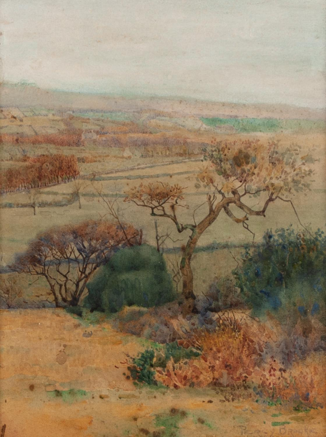 Lot 181 - PERCY BROOKE (NINETEENTH/ TWENTIETH CENTURY) WATERCOLOUR DRAWING ?On Mellor Moors? Signed, titled to
