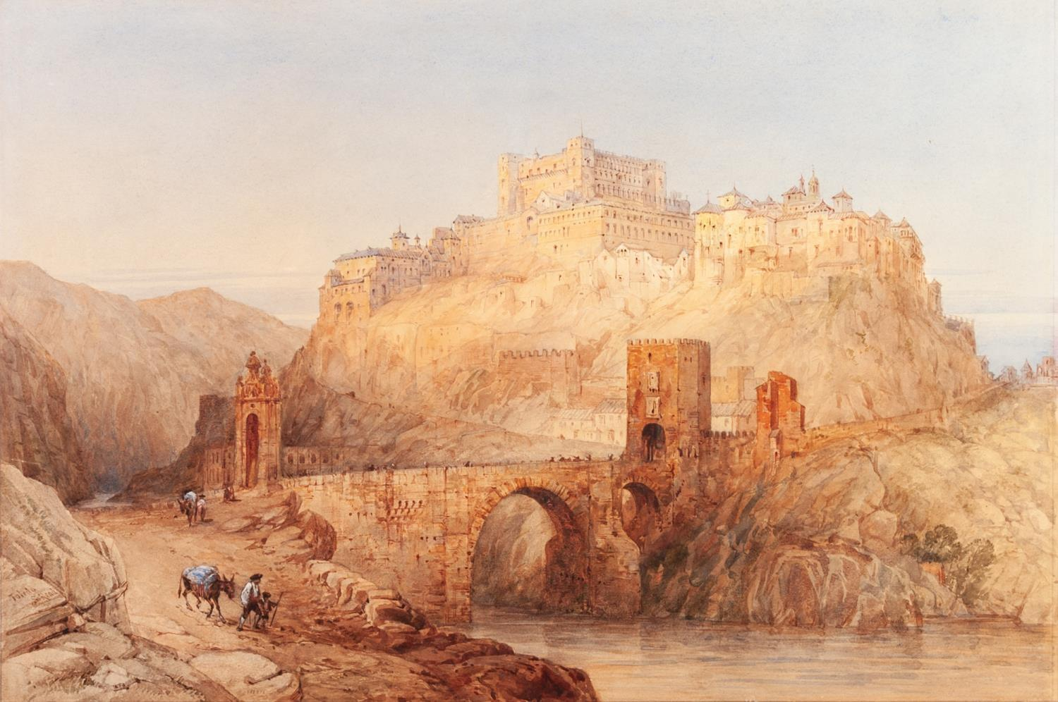 Lot 187 - SAMUEL READ (1815-1883) WATERCOLOUR DRAWING ?Toledo? Signed and titled 14? x 20 ½? (35.5cm x 52cm)