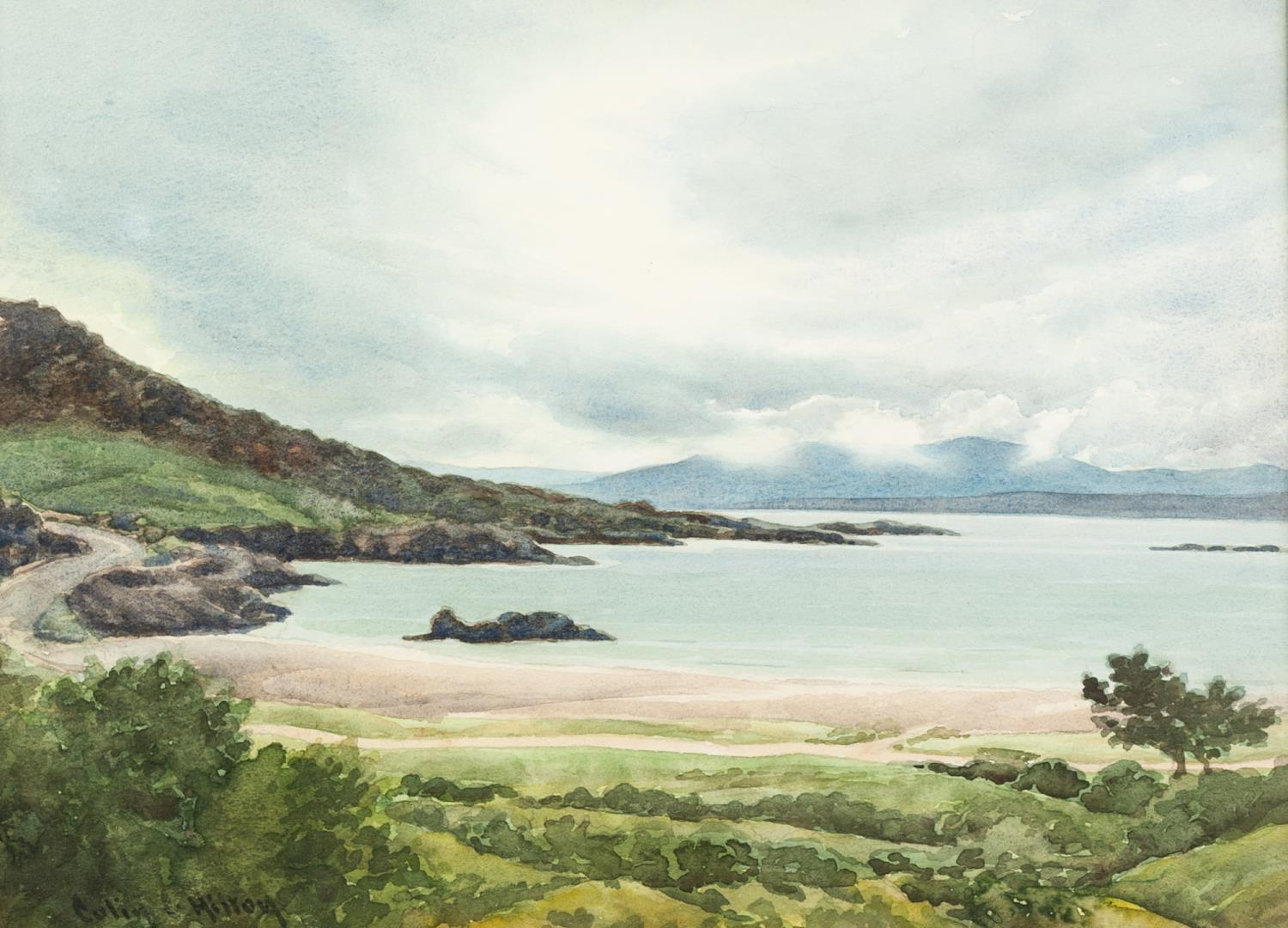 Lot 194 - COLIN C HILTON (Modern) WATERCOLOUR DRAWING 'West Coast of Ireland' Signed lower left, titled on