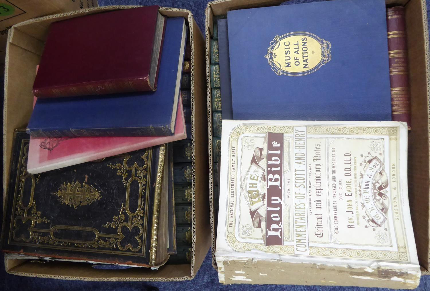 Lot 54 - BINDINGS-The Casquet of Literature, 4 vols, pub Blackie, quality decorative binding, together with a
