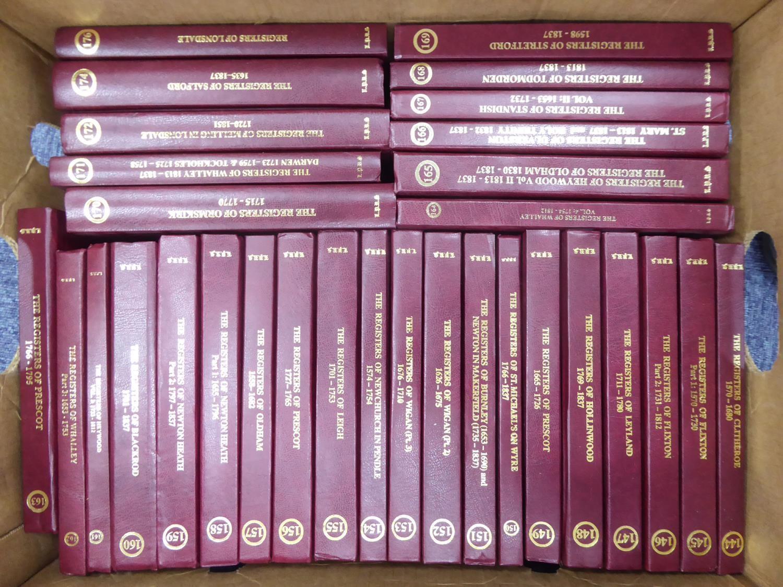Lot 31 - LANCASHIRE PARISH REGISTERS Volumes 100 - 172 plus 174 & 176, 1962-2012. 75 volumes in total fine
