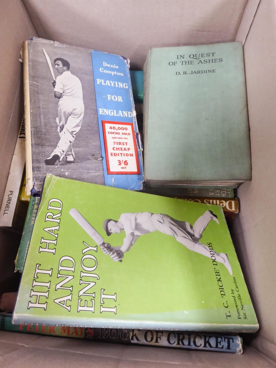 Lot 136 - CRICKET T C DICKIE DODDS - HIT HARD AND ENJOY The Cricketer Ltd 1976 PETER MAYS BOOK OF CRICKET