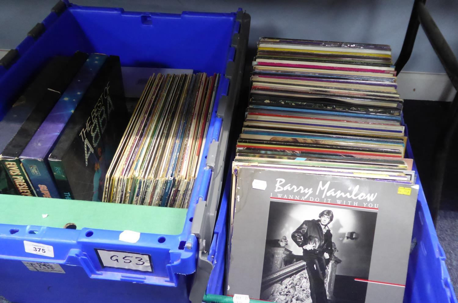 Lot 375 - QUANTITY OF VINYL RECORDS, MIXED GENRE COLLECTION, a good selection of bands and artists, pop, rock,