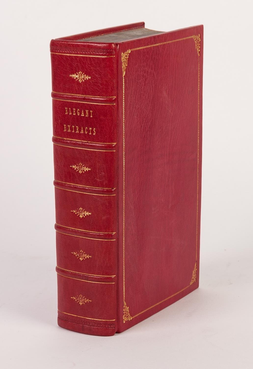 Lot 156 - FINE BINDING. Elegant Extracts, Poetry, Improvement of the Youth, printed Charles Dilly 1791. Full