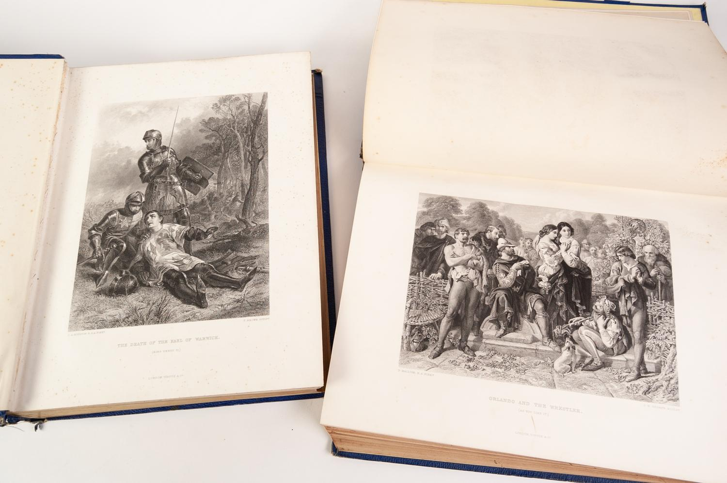 Lot 61 - The Works of Shakespeare ?The Imperial Shakespeare?, with notes by Charles Knight in 4 volumes,