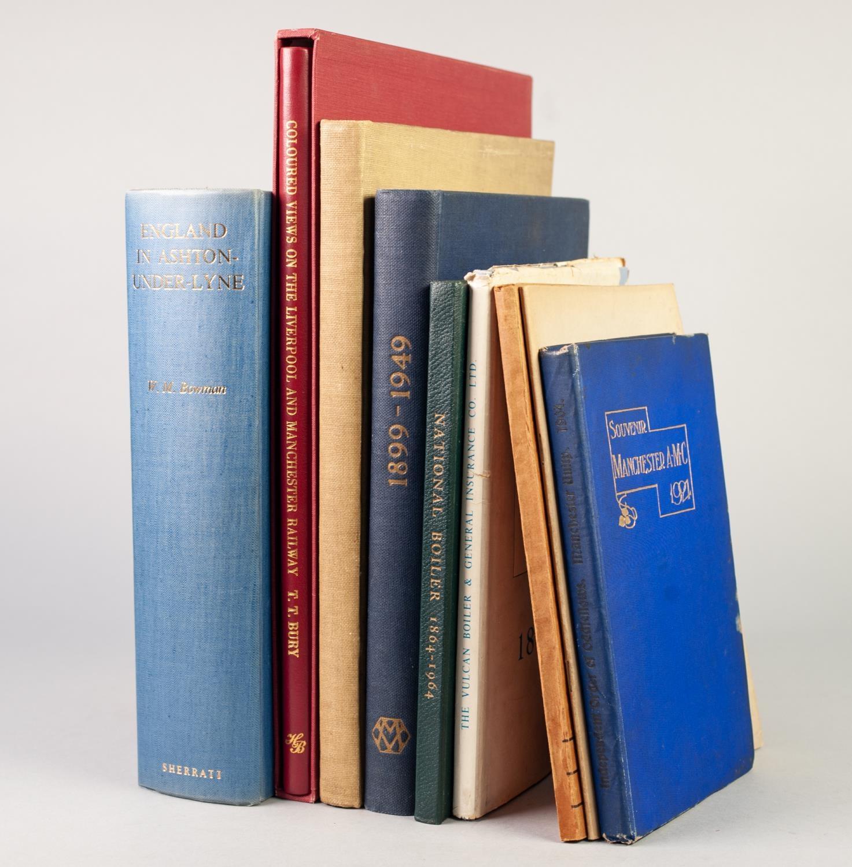Lot 26 - BOWMAN, ENGLAND IN ASHTON-UNDER-LYNE, published Sherratt 1960; Souvenir Manchester AMC 1904;