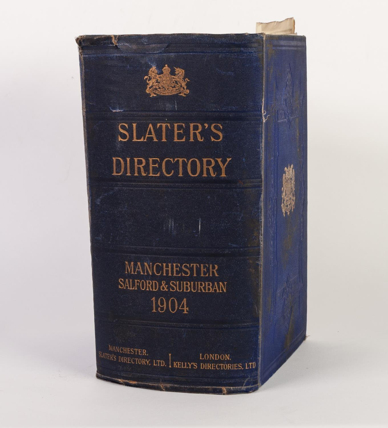Lot 35 - SLATERS MANCHESTER SALFORD AND SUBURBAN DIRECTORY 1904. Complete with plan of Manchester amd map
