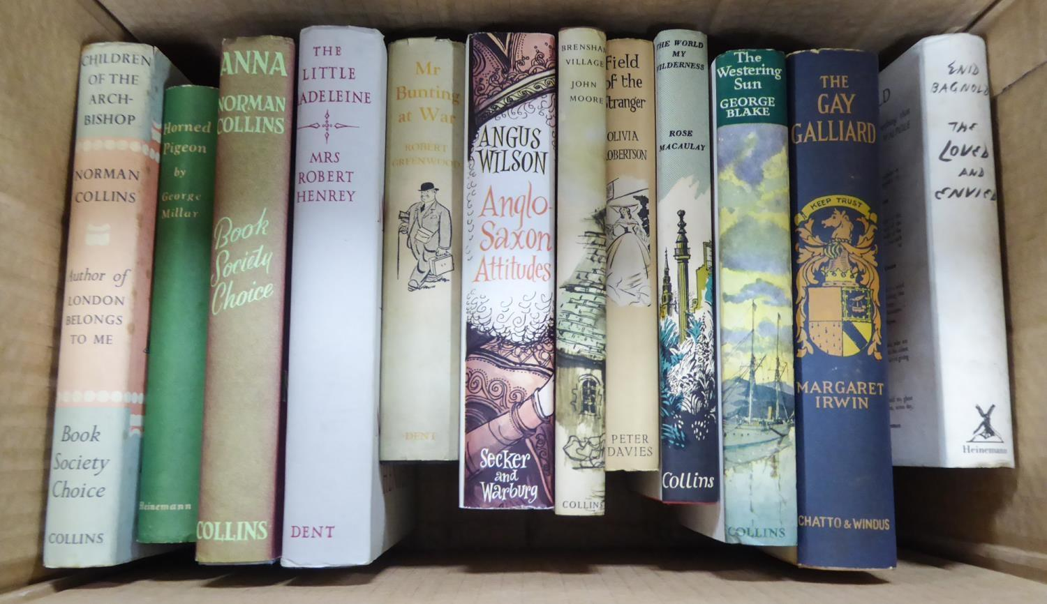Lot 10 - SMALL SELECTION OF SIGNED MODERN FICTION TITLES, all in dust jackets, many 1st editions, to