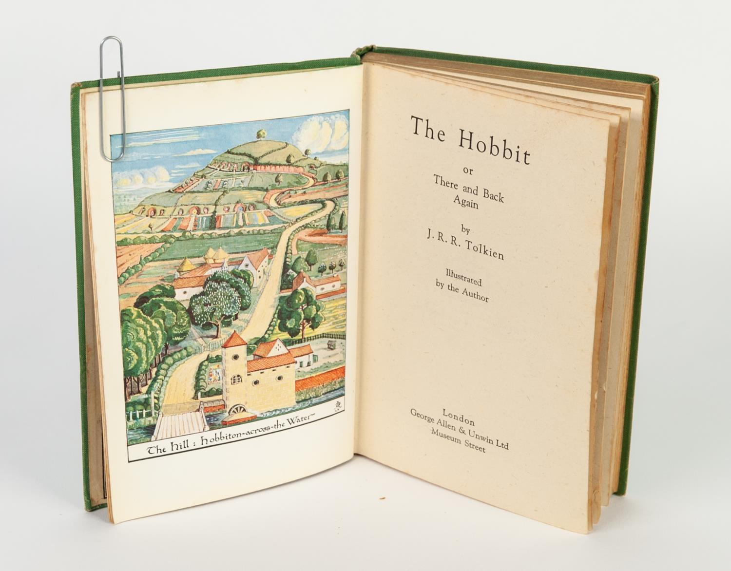 Lot 143 - JRR TOLKIEN - THE HOBBIT, published George Allen Unwin 1942 (third impression) this edition being