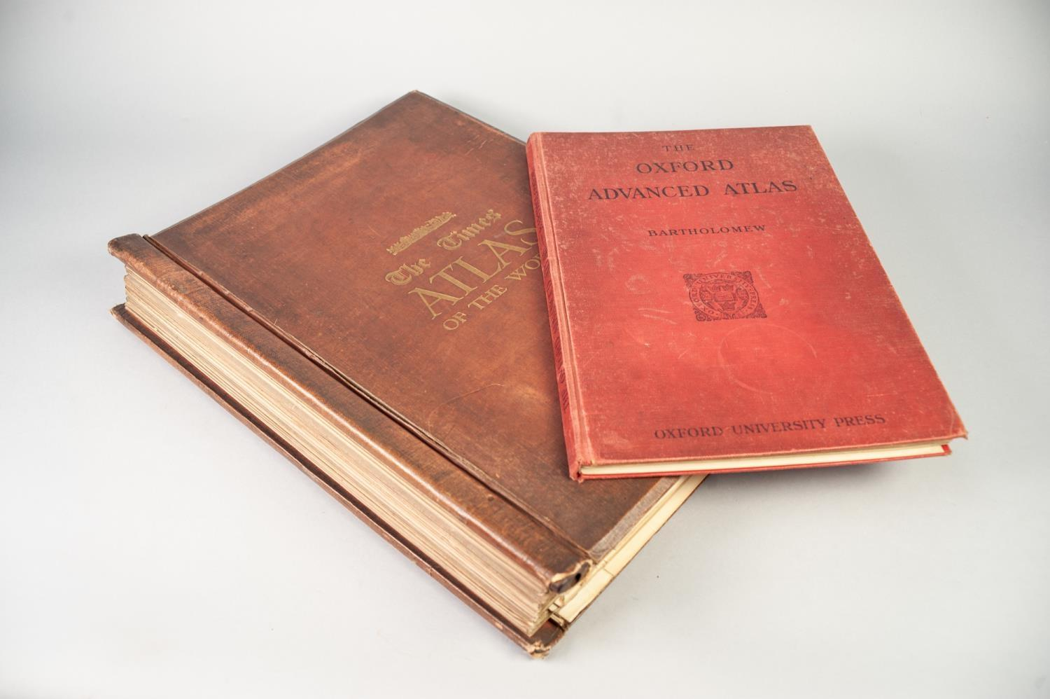 Lot 28 - THE TIMES SURVEY ATLAS OF THE WORLD, prepared under direction of J G Bartholomew, published by The