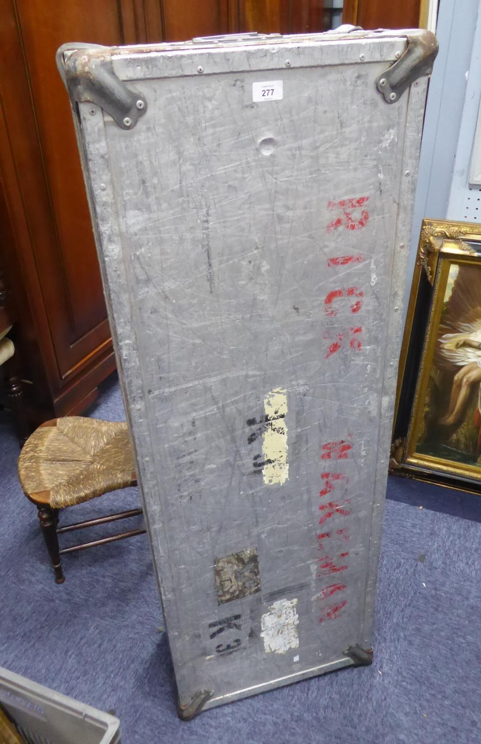 Lot 277 - 'RICK WAKEMAN', ALUMINIUM INSTRUMENT FLIGHT CASE, the artist's name stencilled in red to the